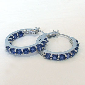 Iolite Hoop Earrings Madeleine