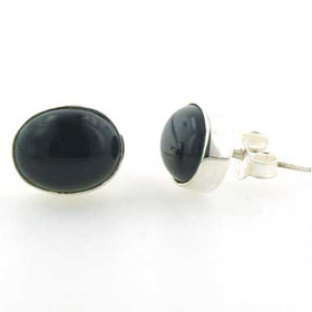 Black Onyx Silver Earrings - Booth and Booth