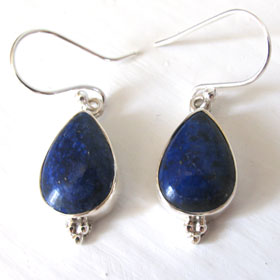 Lapis Lazuli Pear Drop Earrings Adelle