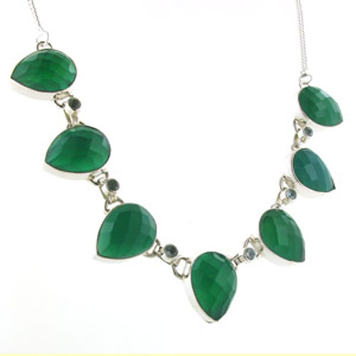 Faceted Green Onyx Necklace Clarice