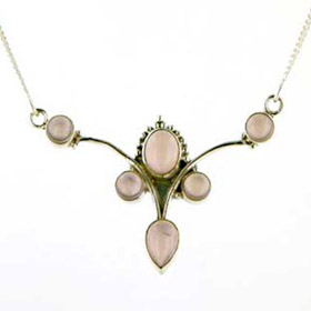 Rose Quartz Necklace Lydia