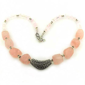 Rose Quartz Necklace Margaux