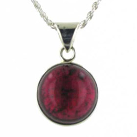 19 Carat Tourmaline Pendant Faith in Sterling Silver