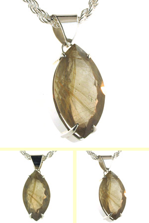 Golden Rutilated Quartz Pendant Petra