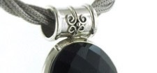 Black Onyx Pendants in Sterling Silver