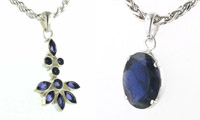 Iolite and Sterling Silver Pendants