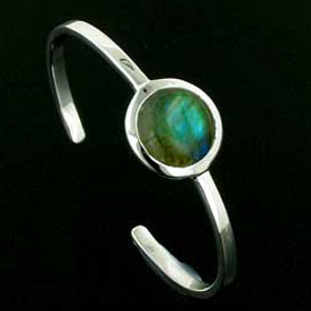 Labradorite Silver Bangle Emilia