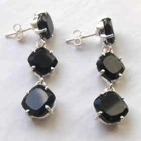 Black Onyx Earrings Fenella