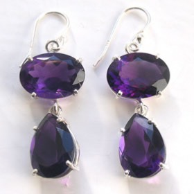 Amethyst Earrings Celine