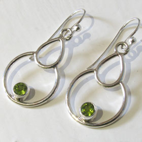 Peridot Earrings Eliza