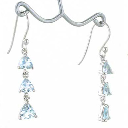 Aquamarine Earrings Rhoda