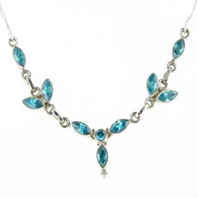 Blue Topaz Necklace Candide