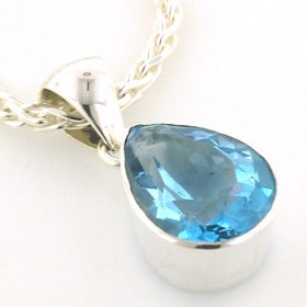 30 Carat Swiss Blue Topaz Pendant Dawn
