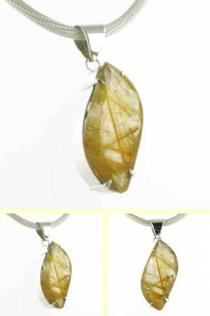 Golden Rutilated Quartz Pendant Lucille