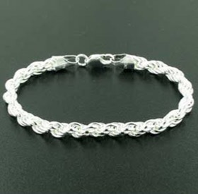 6mm Sterling Silver Rope Bracelet
