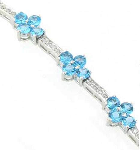 Swiss Blue Topaz Bracelet Georgia