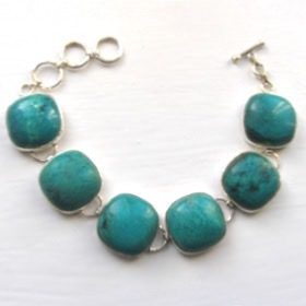 Silver Turquoise Bracelet - Turquoise Jewellery