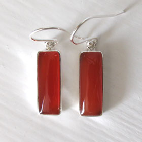 Carnelian Earrings Evita