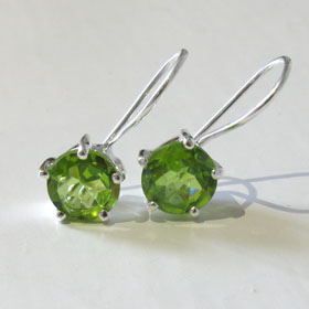 Peridot Drop Earrings Madeleine