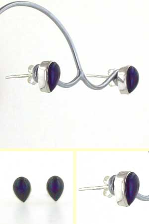 Amethyst Stud Earrings Pia