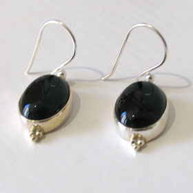Black Onyx Earrings Simone
