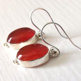 Carnelian Earrings Simone