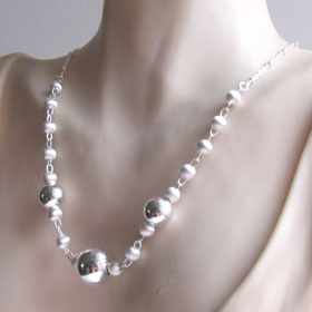 Sterling Silver Balls Necklace