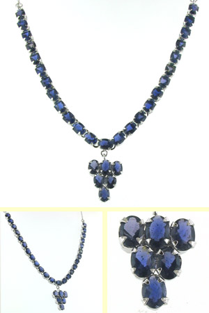 Iolite Pendant Necklace Nerys