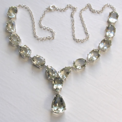 Green Amethyst Necklace Bethany