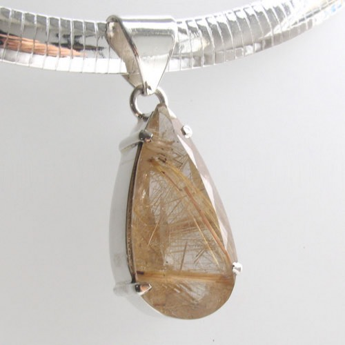 Golden Rutilated Quartz Pendant Jocelyn