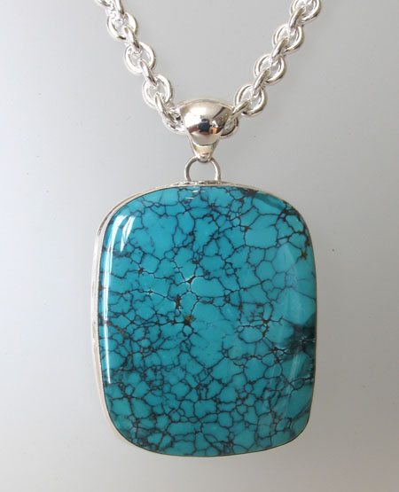 Large Turquoise Pendant Anna