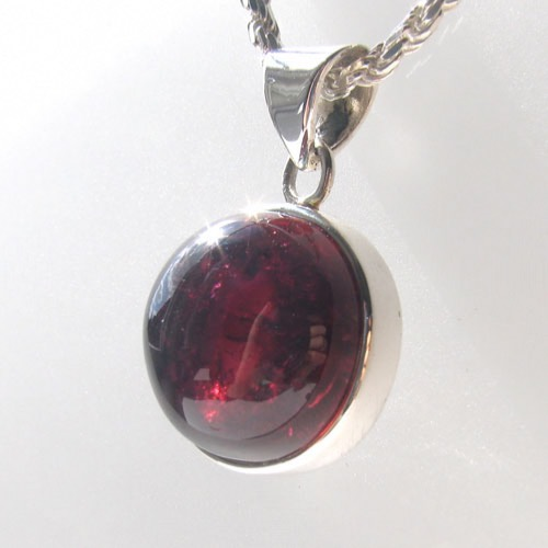 Pink Tourmaline Pendant Faith in Sterling Silver