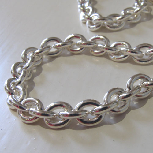 Silver Anchor Chain Necklace - Boothandbooth.co.uk