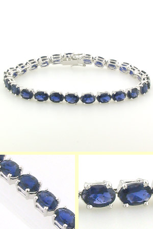 Iolite and Sterling Silver Bracelet Poppy