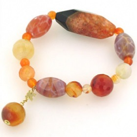 Carnelian and Agate Bracelet Candice