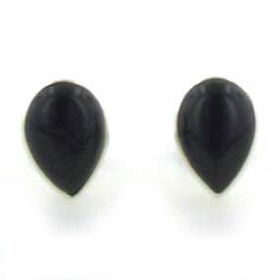 Black Onyx Stud Earrings Pia