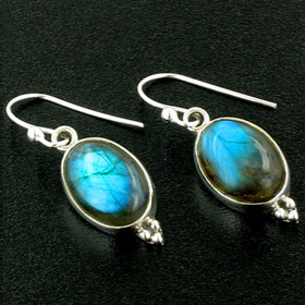 Labradorite and Sterling Silver Earrings Simone
