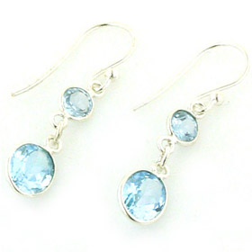 Blue Topaz Earrings Sigi