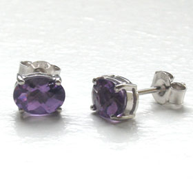 Amethyst Stud Earrings Mayla