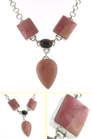 Pink Opal Necklace Olivia