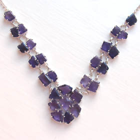 Amethyst Cluster Necklace Helena