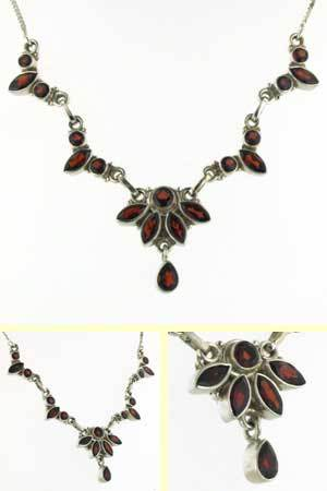 Garnet Necklace Deborah