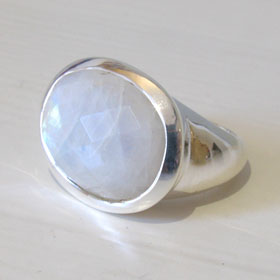 Rainbow Moonstone Ring Seurat