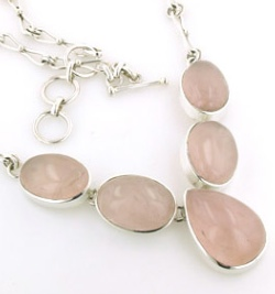 Rose Quartz Necklace - Gemstone Jewellery
