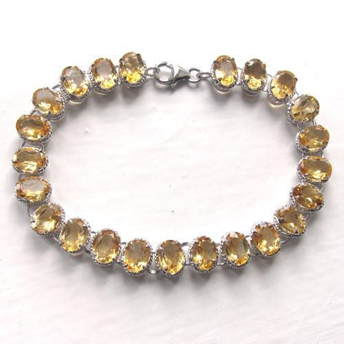 21e4add8f420fe Sterling Silver Citrine Bracelet | Citrine Jewellery