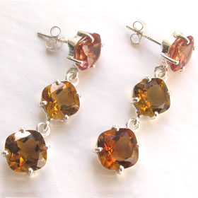 Citrine Earrings Fenella