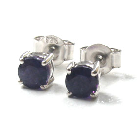 Dark Amethyst Stud Earrings Sally