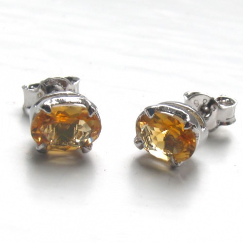 Citrine Stud Earrings Mayla