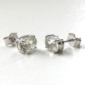 Green Amethyst Stud Earrings Mayla