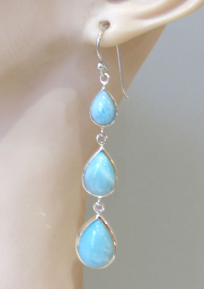 Larimar Earrings Domenica